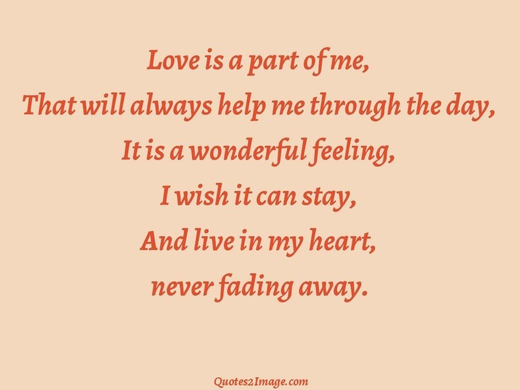 Love is a part