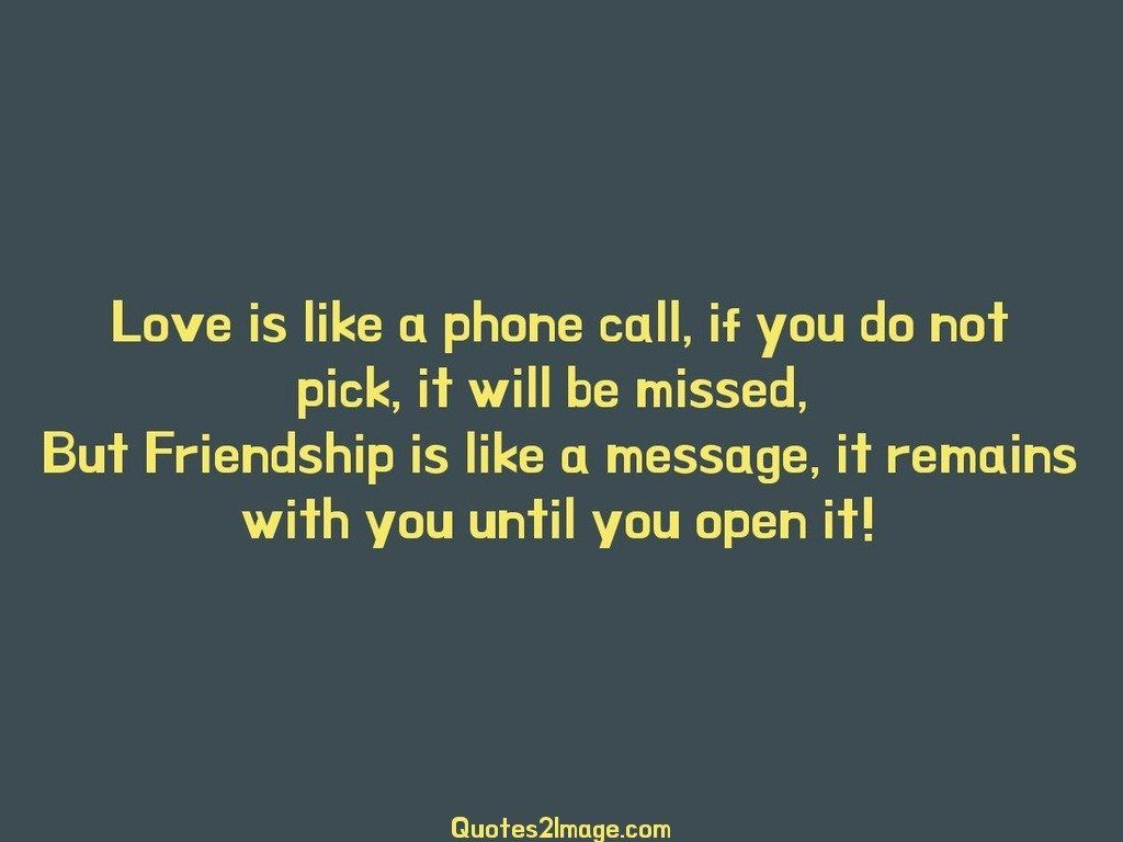 Love is like a phone call