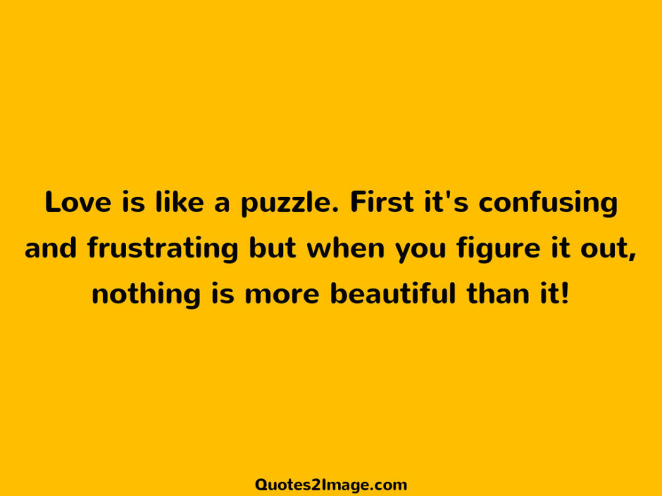 Love is like a puzzle