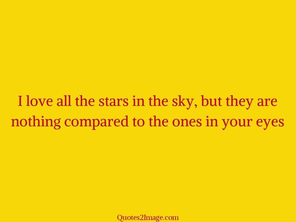 I love all the stars in the sky