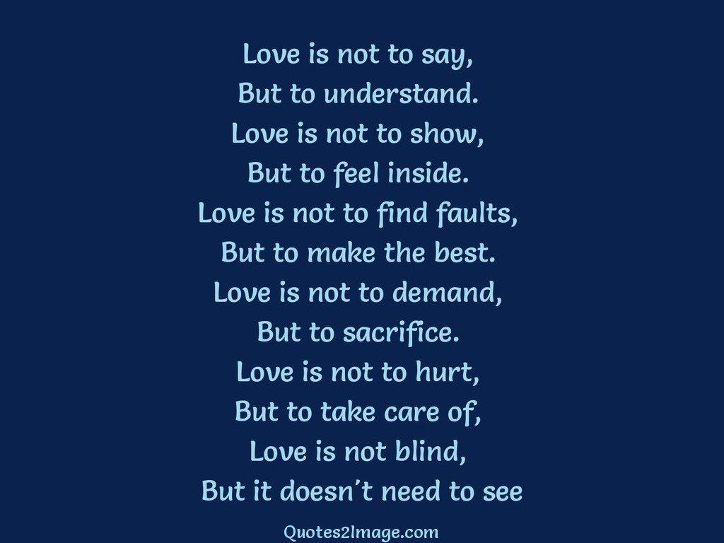 Blind Quotes Simple Need To See  Love  Quotes 2 Image