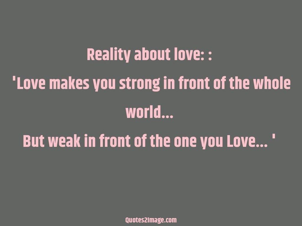 Reality about love