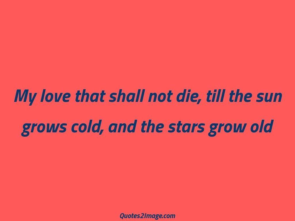 Stars grow old