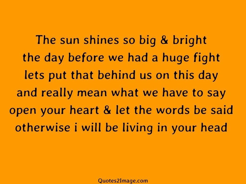 The sun shines so big