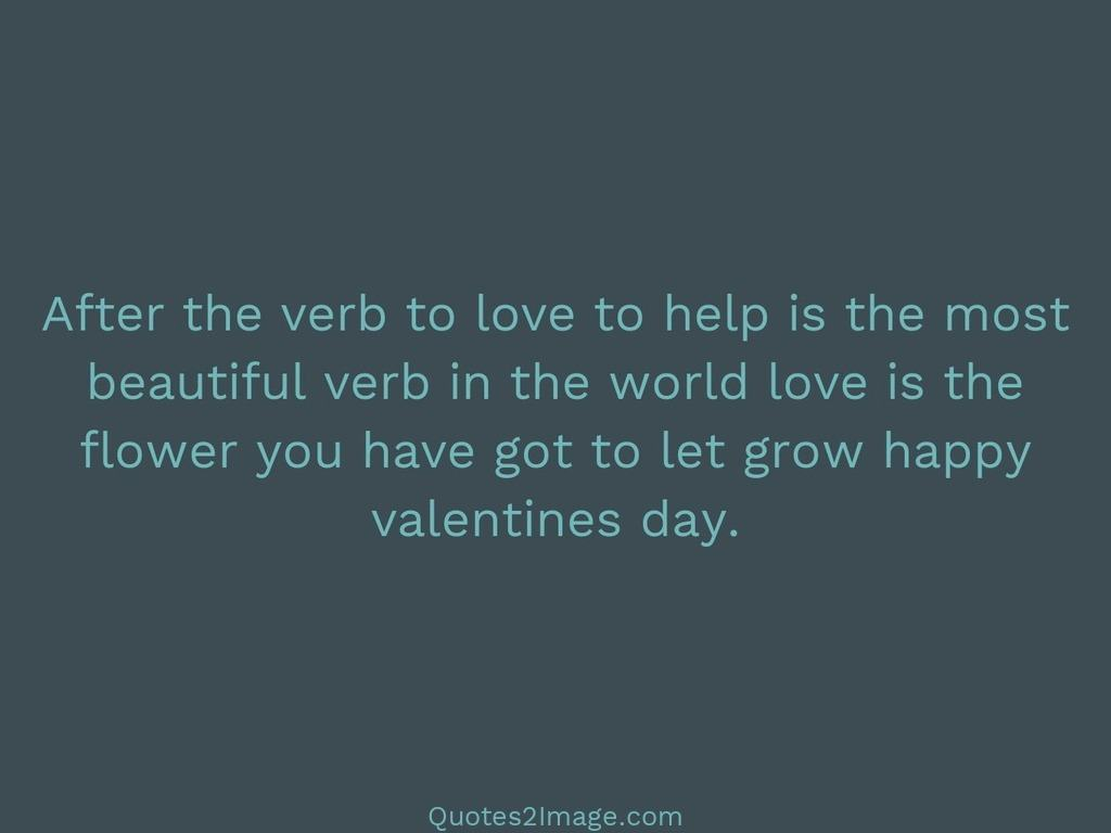 After the verb to love to help