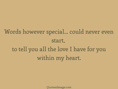 lovequotewordshoweverspecial