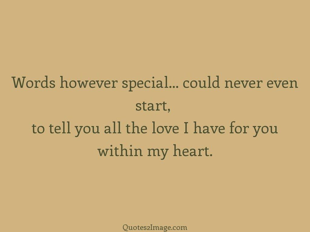 Words however special