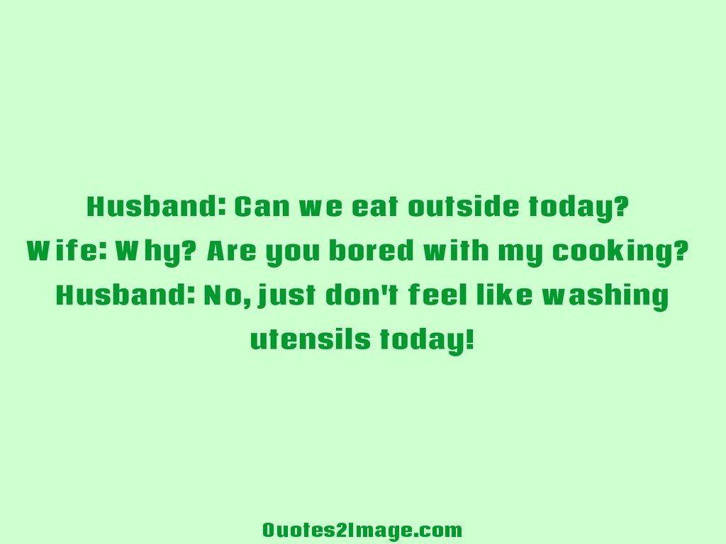 Feel like washing utensils today
