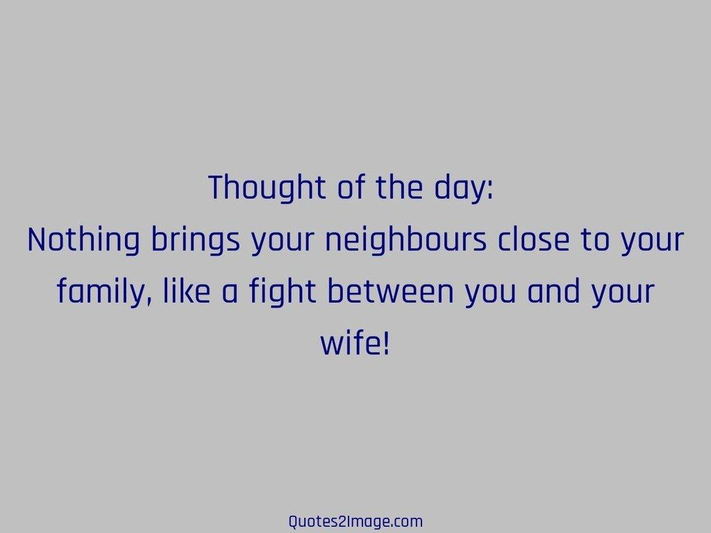 Fight Between You And Your Wife