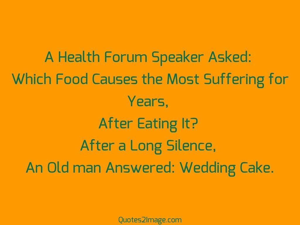 A Health Forum Speaker