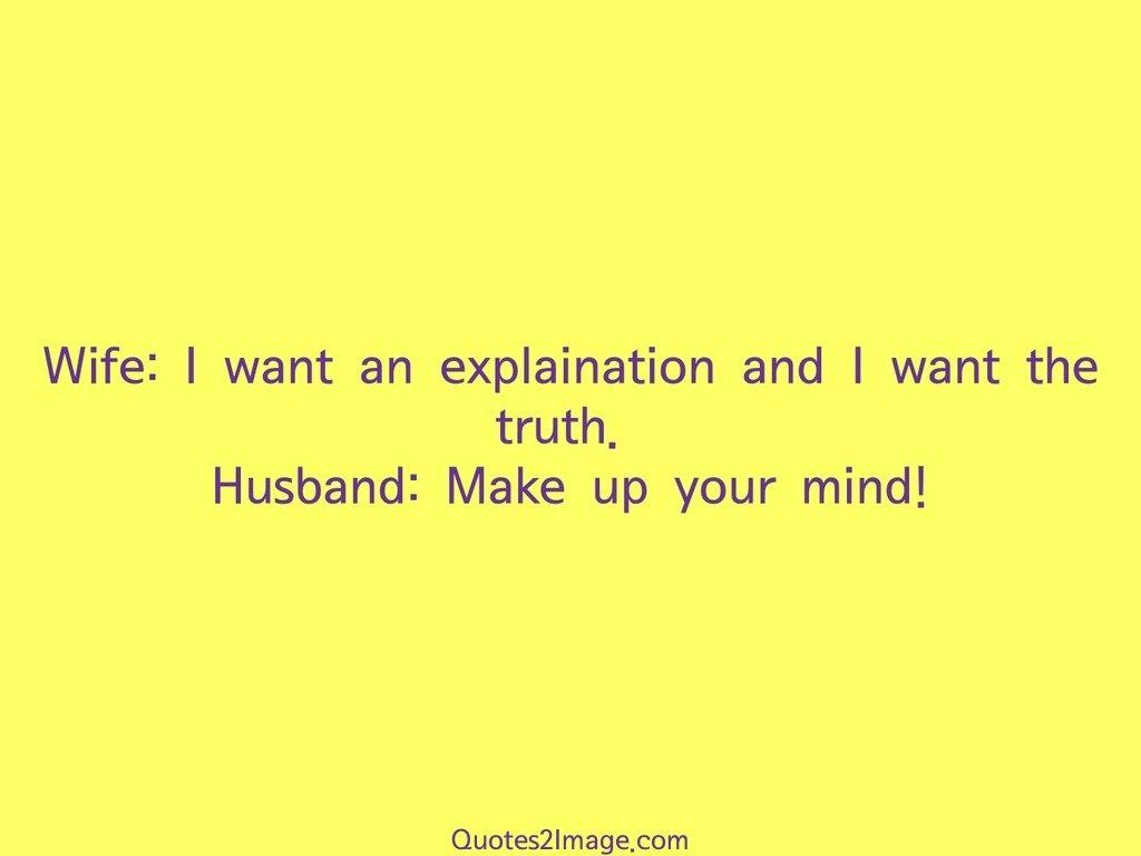 Make Up Your Mind Marriage Quotes 2 Image