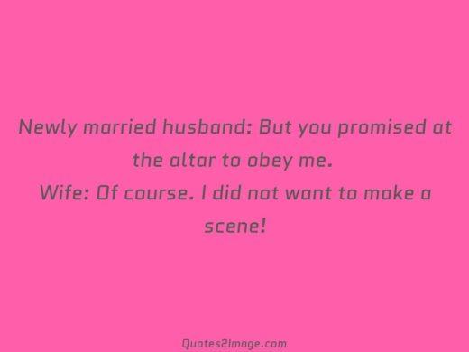 Newly married husband