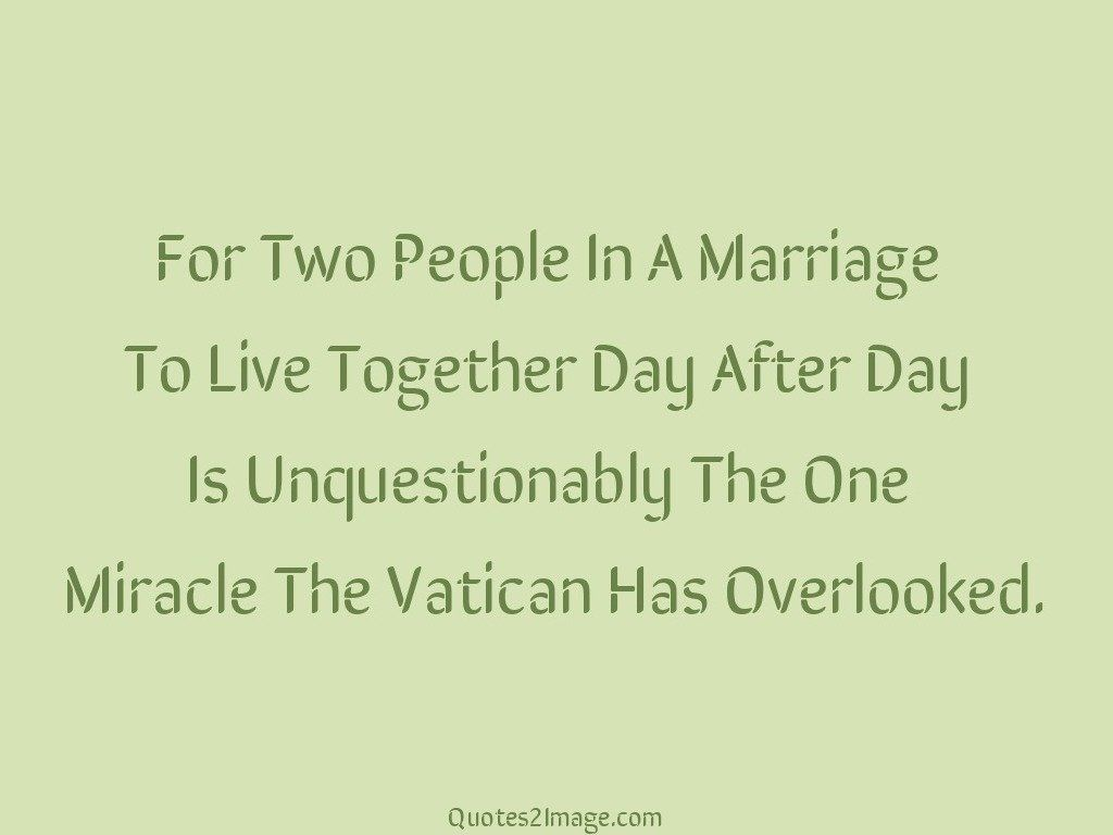 For Two People In A Marriage
