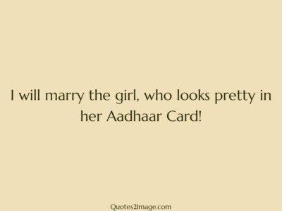 marriagequoteprettyaadhaarcard