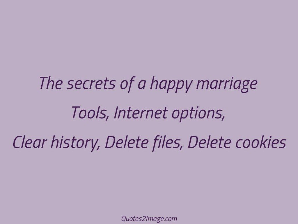 The secrets of a happy marriage