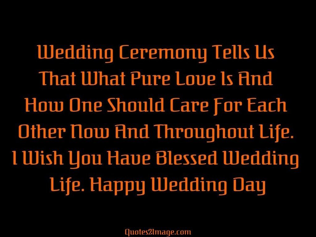 Wedding Ceremony Tells
