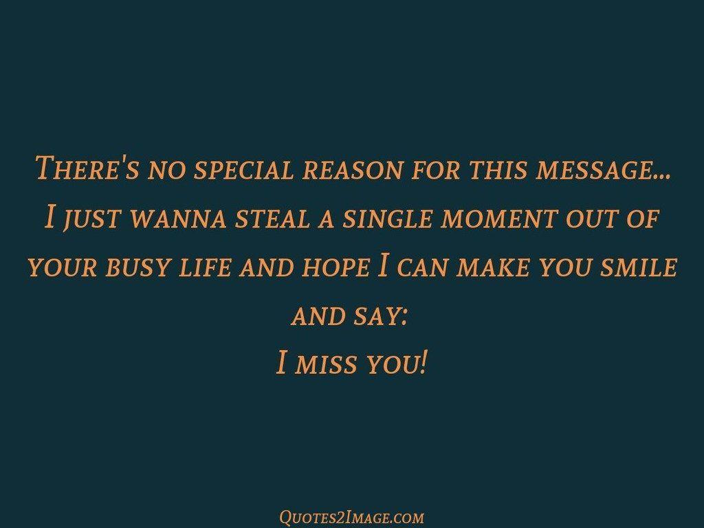 Theres no special reason