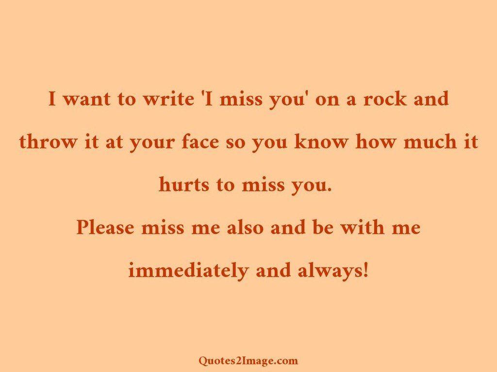 I want to write 'I miss