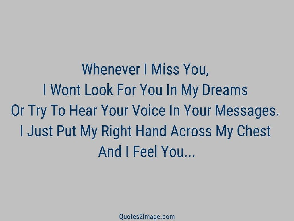 Whenever I Miss