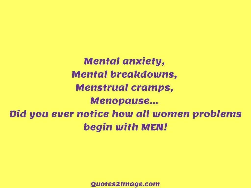 Problems begin with MEN