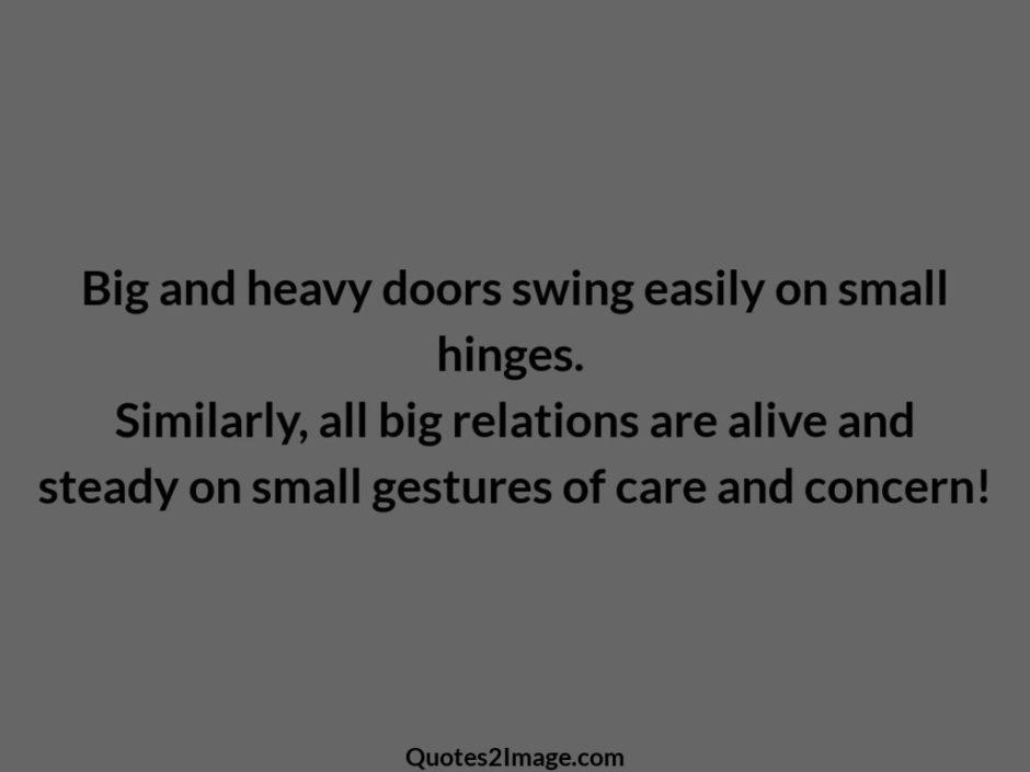 Big and heavy doors