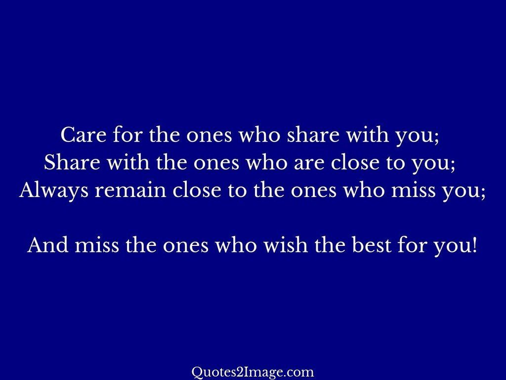 Care for the ones who share