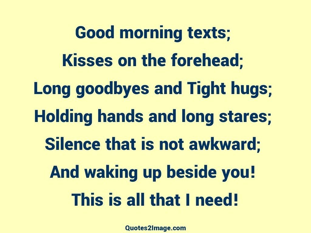 Good Morning Couple Quote : Good morning texts relationship quotes image