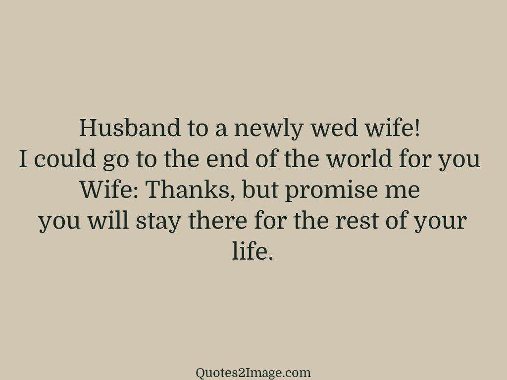 Husband to a newly wed