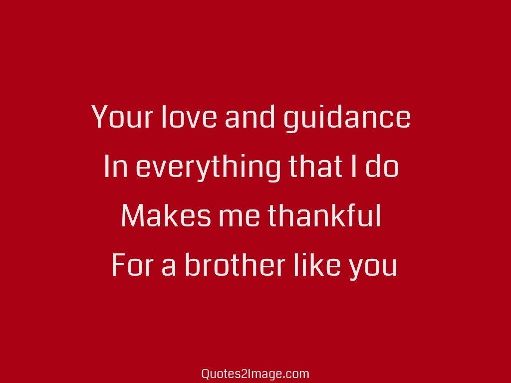 Your love and guidance