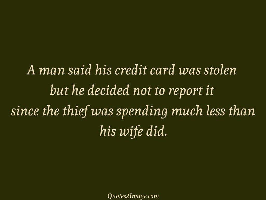 A man said his credit