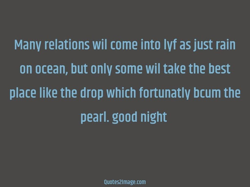 Many relations wil come