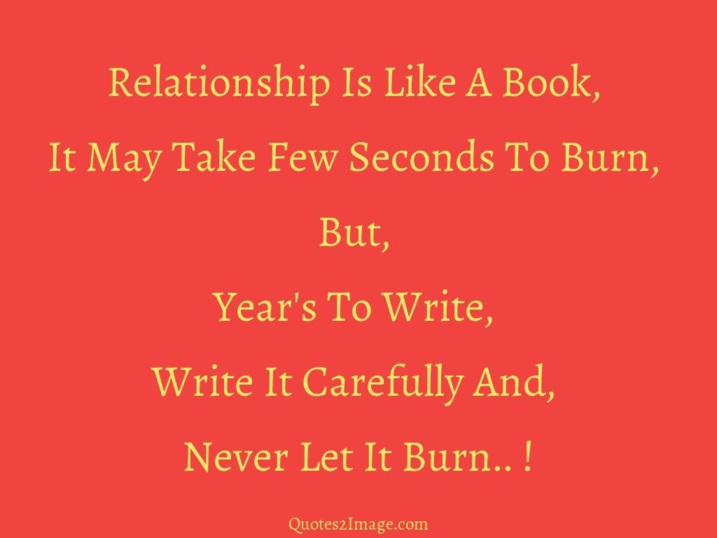 Relationship Is Like A Book