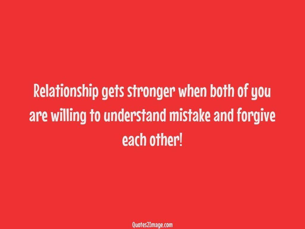 Relationship gets stronger