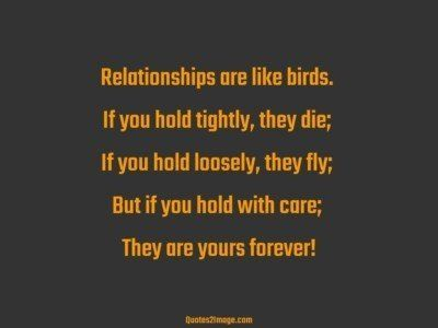 Relationships Are Like Birds Relationship Quotes 2 Image