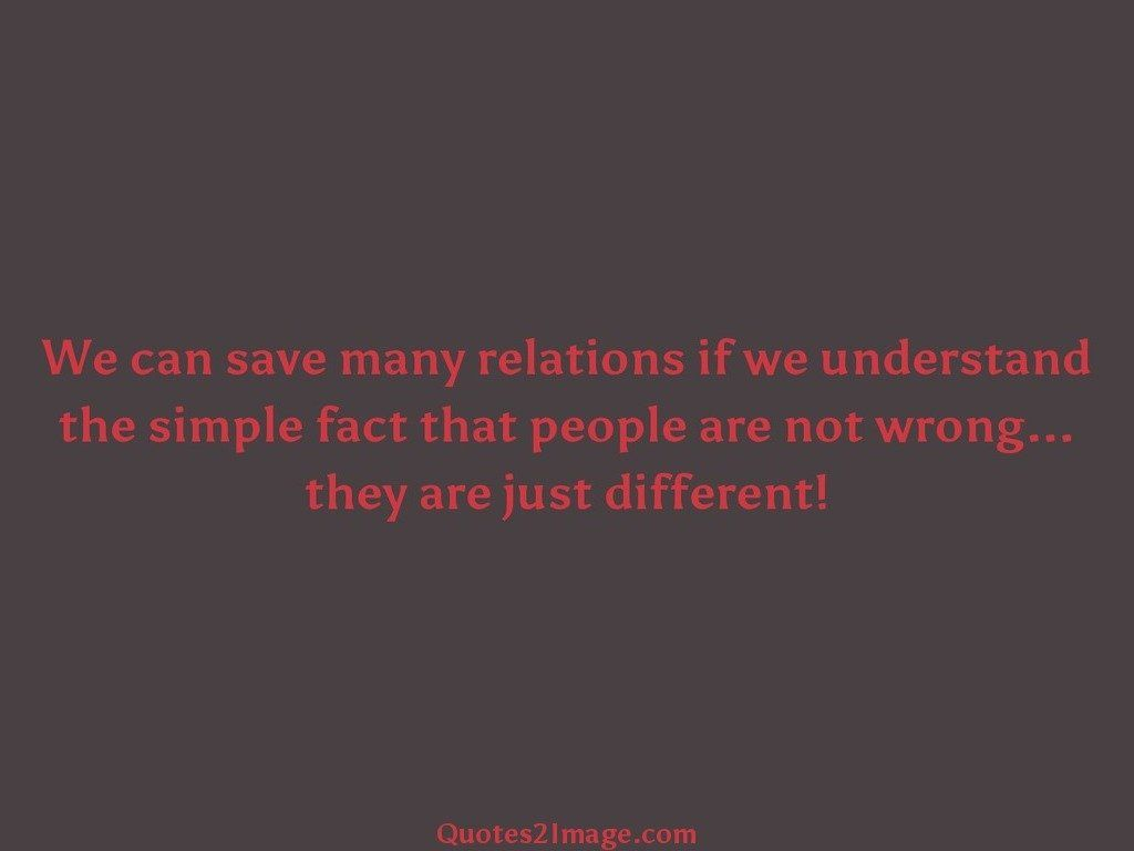 We can save many relations if we understand