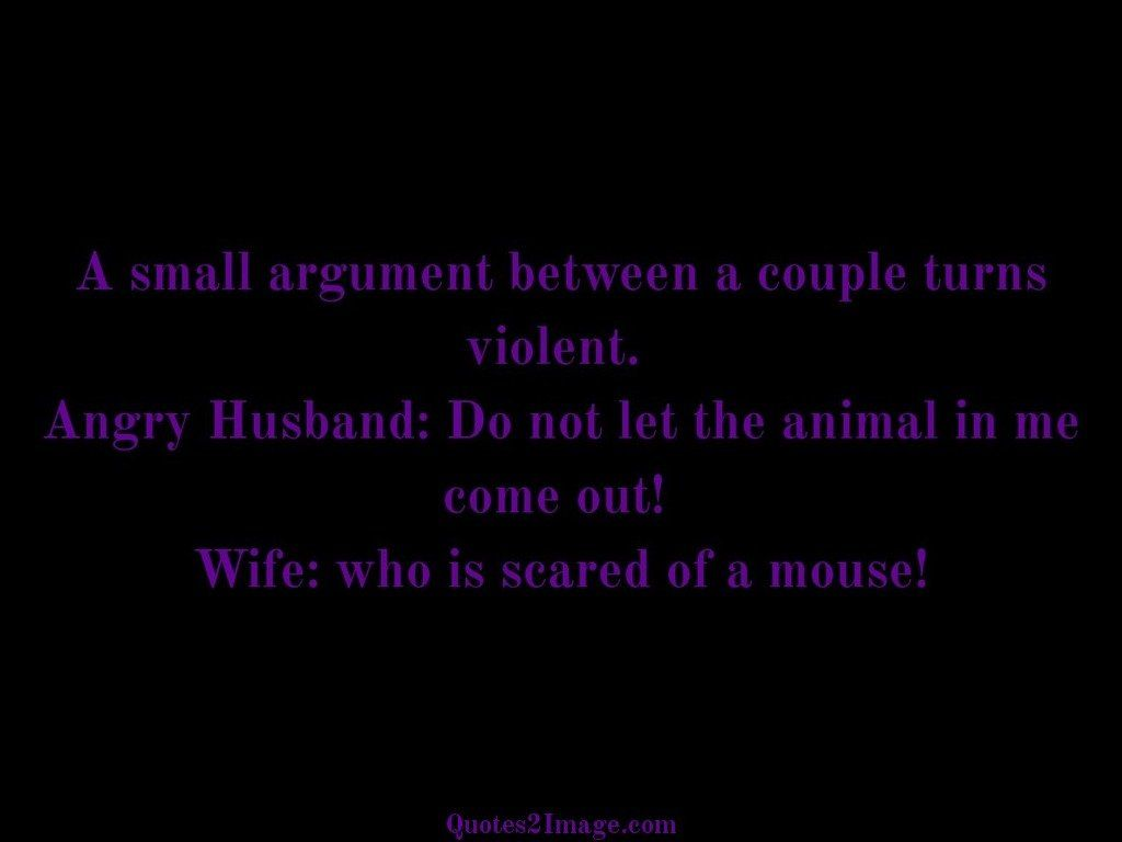A small argument between a couple