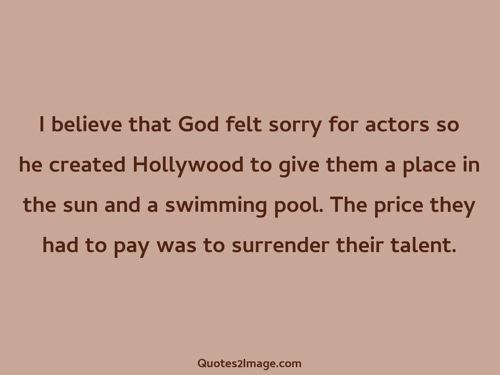 I believe that God felt
