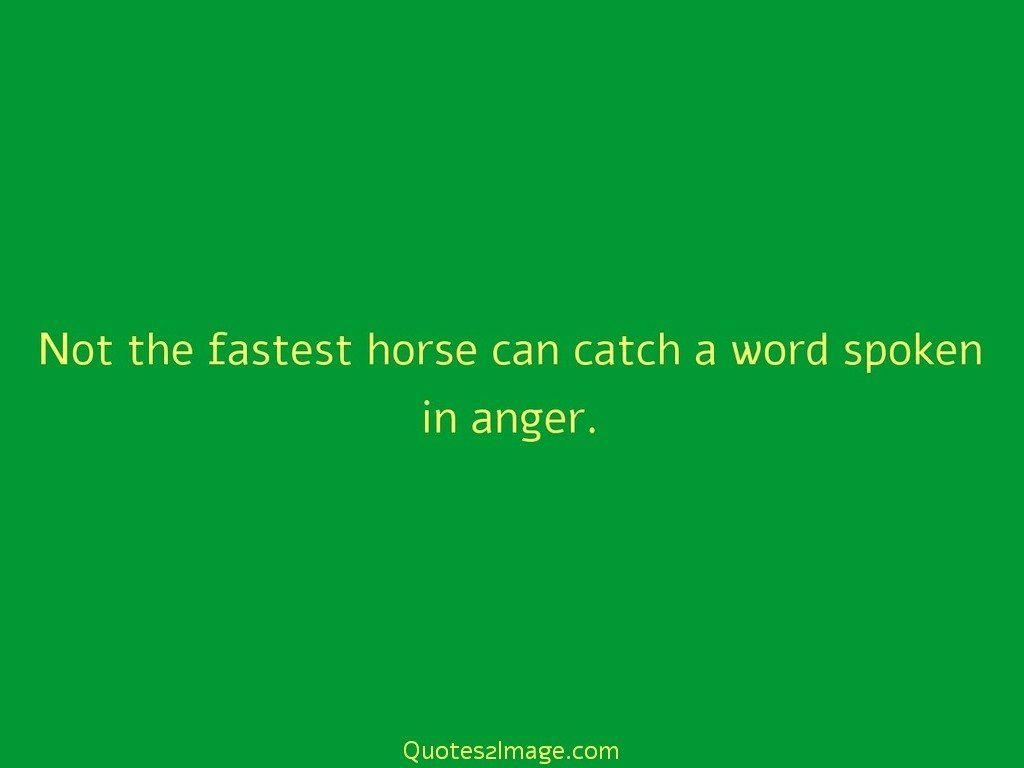 Not the fastest horse can catch