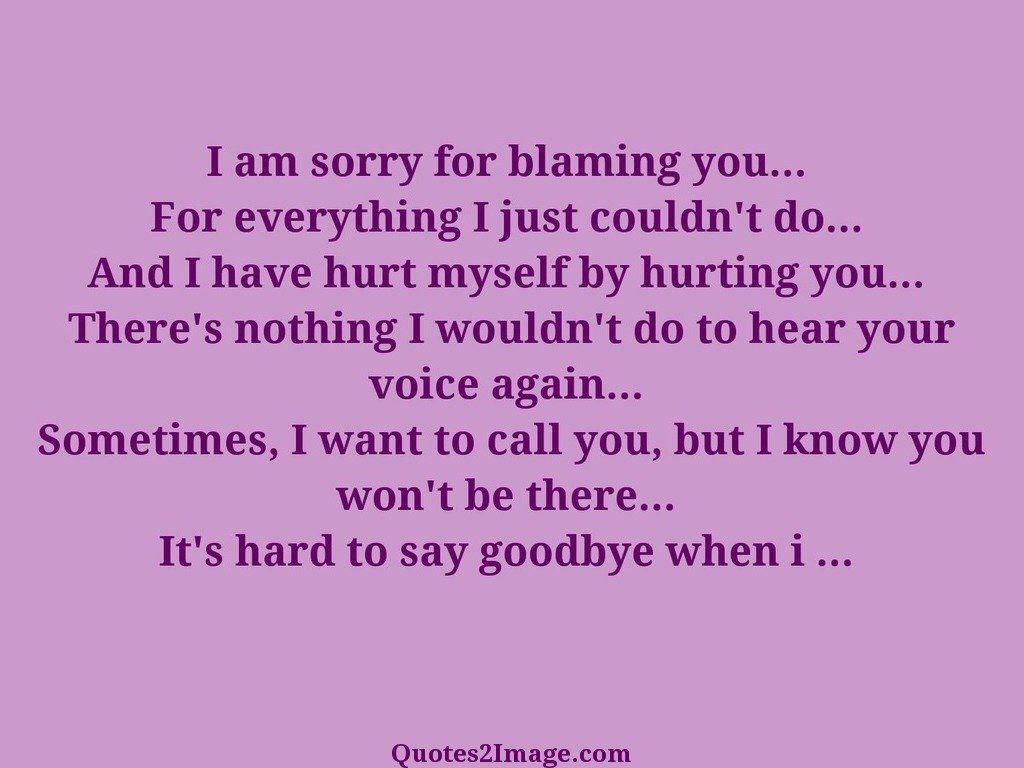 Hard to say goodbye when i