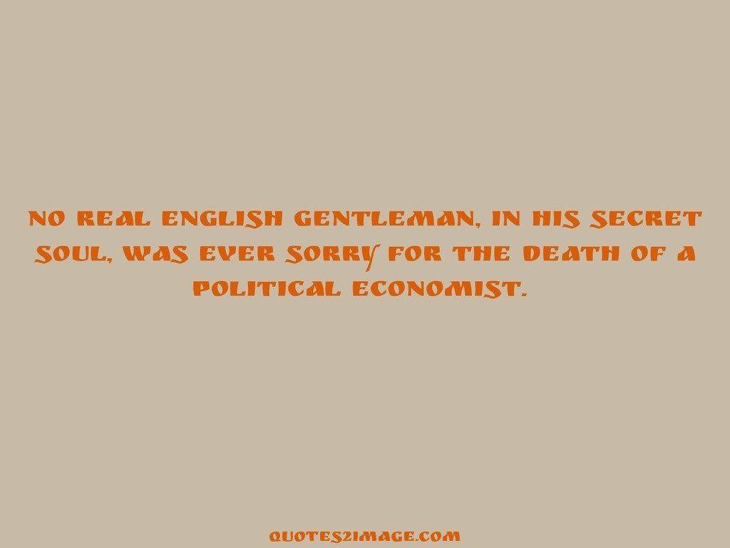 No real English gentleman