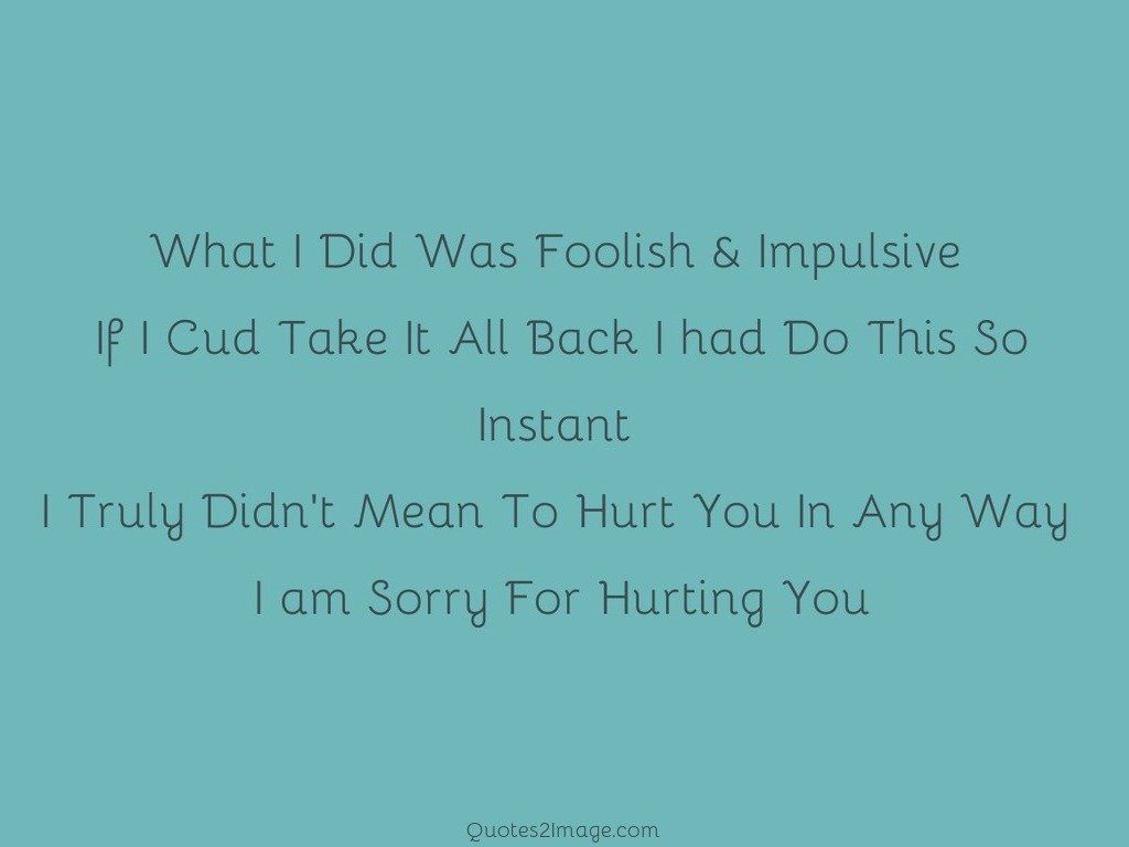Sorry For Hurting You - Sorry - Quotes 2 Image