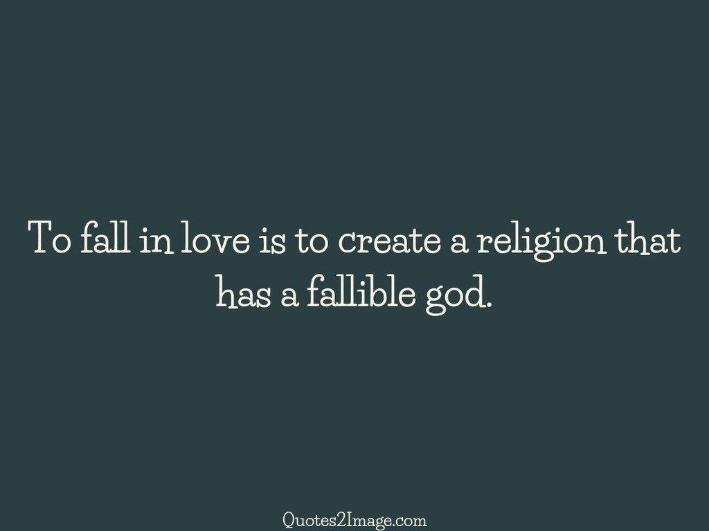 To fall in love is to create