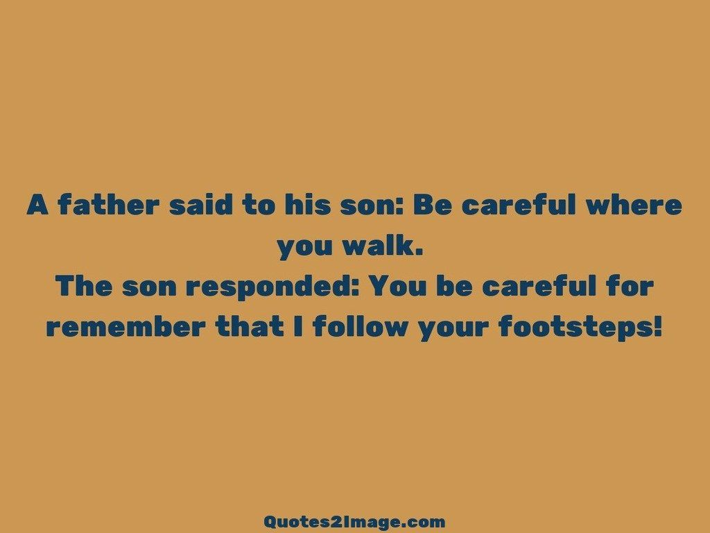 A father said to his son