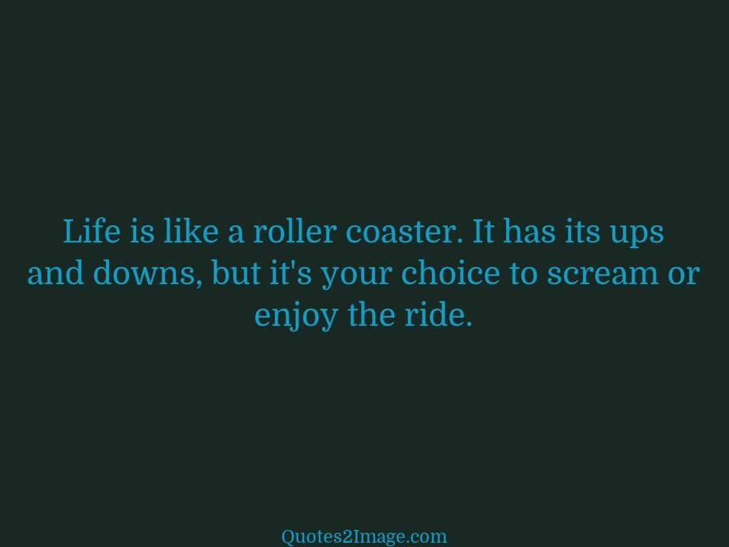 Wise Quote About Life Life Is Like A Roller Coaster  Wise  Quotes 2 Image