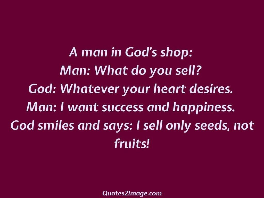 A Man In Gods Shop Wise Quotes 2 Image