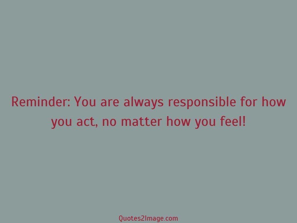 Matter how you feel