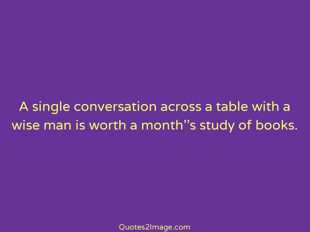 A single conversation across a table